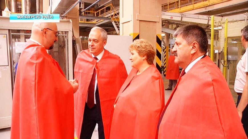 Видео. Глава Администрации Президента Республики Беларусь Игорь Сергеенко посетил Мозырский район