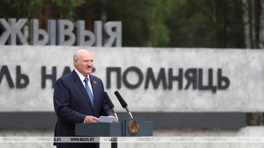 «Это двенадцать Хатыней!» — Лукашенко принял участие в открытии мемориала на месте сожженной деревни Ола