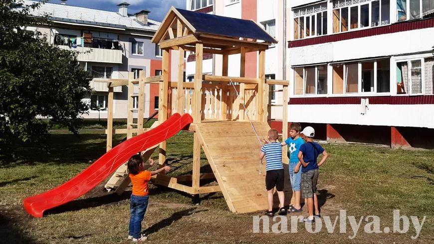 Детский городок появился по улице Садовой