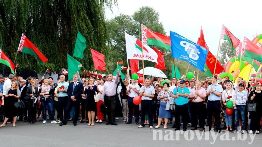Фото. Наровляне выступают за мир, стабильность и спокойствие в Беларуси