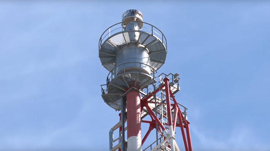 Пробный розжиг факела строящегося комплекса гидрокрекинга провели на Мозырском НПЗ