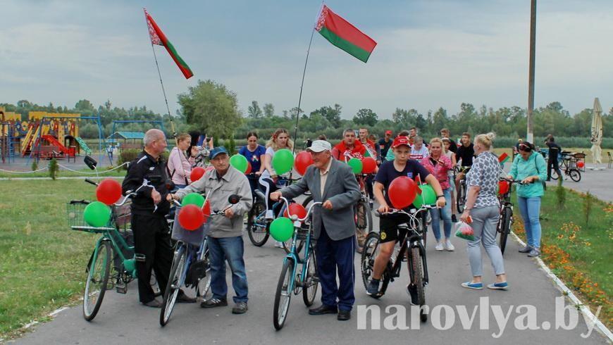 Фото. В Наровле состоялся велопробег
