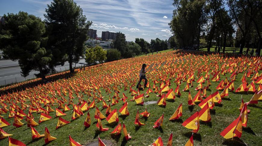 В Мадриде установили более 50 тыс. флагов в память о жертвах коронавируса