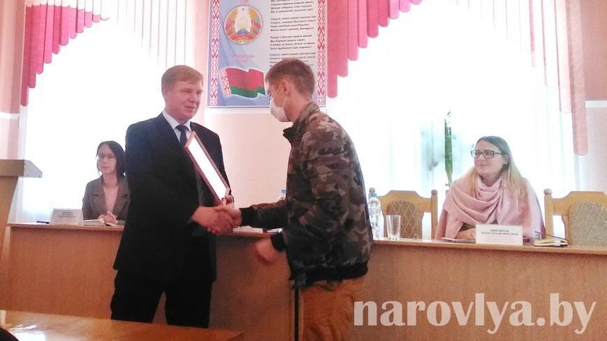 Кого из народных дружинников наградил председатель райисполкома
