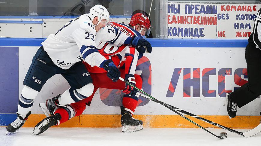ЦСКА обыграл московское «Динамо» в матче чемпионата КХЛ