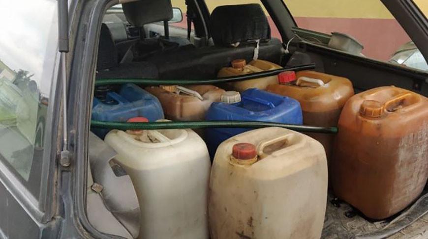 Житель Речицы нелегально перевозил 160 л топлива