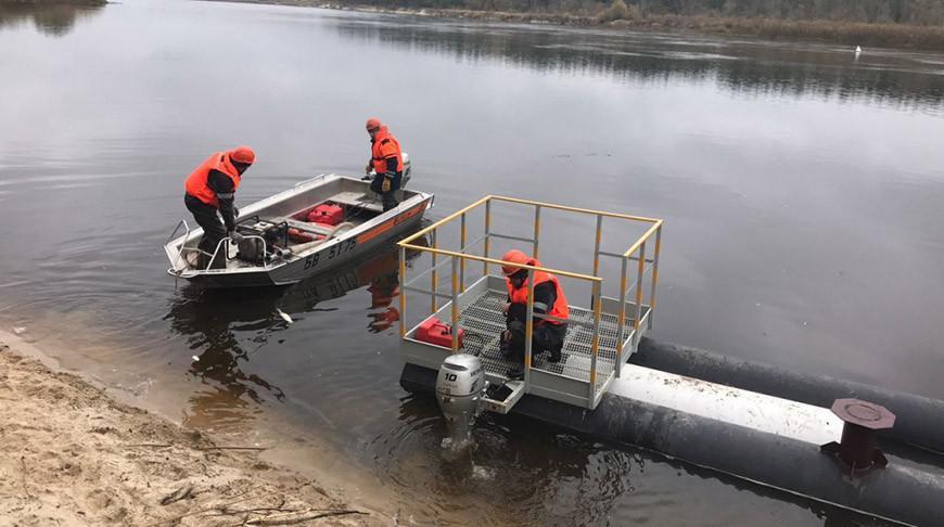 На подводном переходе нефтяной магистрали через Припять провели учения