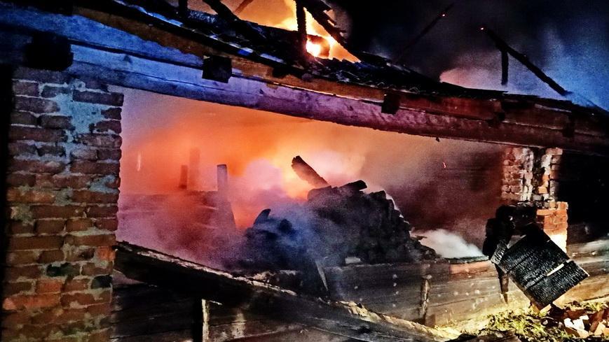 В деревне Будки произошел пожар