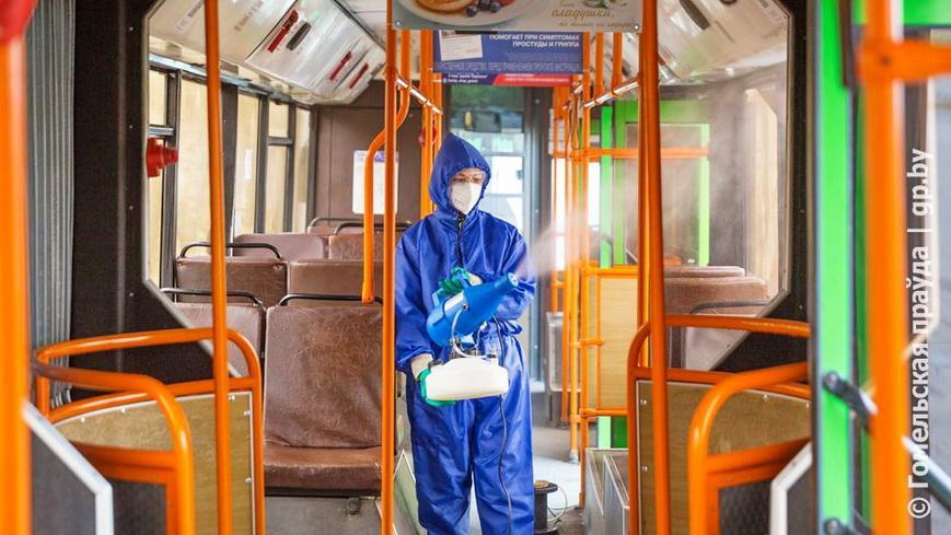 Кратность дезинфекций общественного транспорта в области увеличили