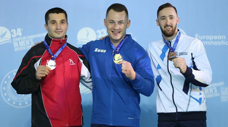 Белорус Егор Шрамков выиграл две медали на ЧЕ по спортивной гимнастике в Мерсине