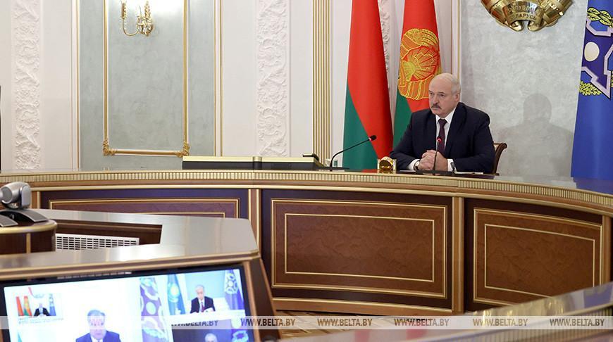 Президент Беларуси принял участие в онлайн-саммите ОДКБ