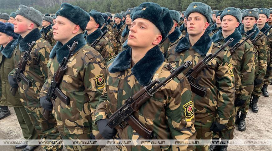 В Беларуси военную присягу принесли около 8 тыс. новобранцев