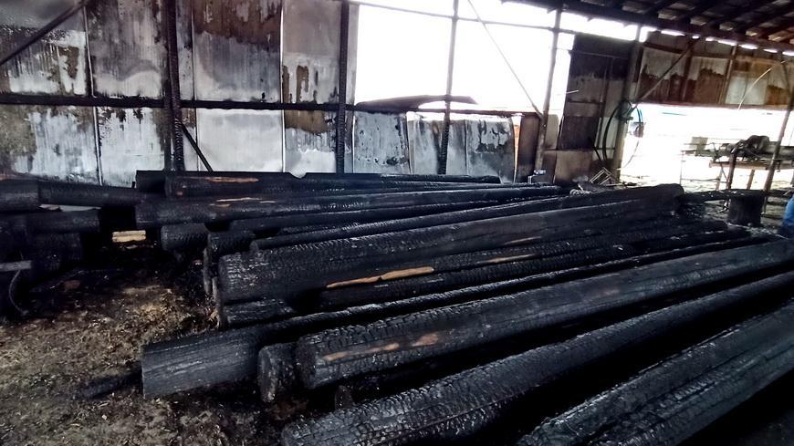 В первый день нового года в Наровле произошел пожар
