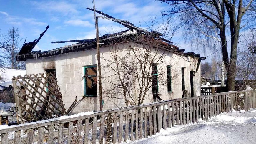 Страшный пожар произошел в Будках. Погиб человек