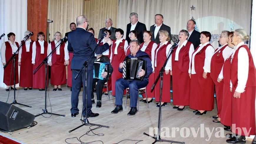 Главный мужской праздник отметили концертом в Наровлянском РДК