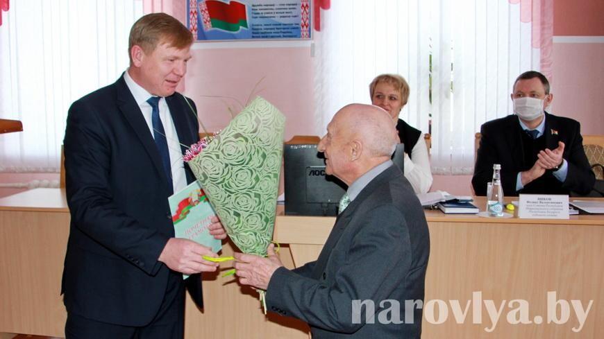 Поздравляем ветерана труда Ивана Грушевского!