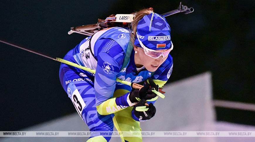 Белоруска Динара Алимбекова заняла второе место на этапе Кубка мира по биатлону