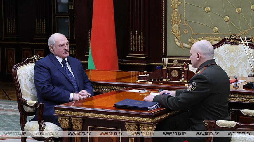 Ситуация в сфере нацбезопасности и защита конституционного строя — подробности встречи Лукашенко с главой КГБ