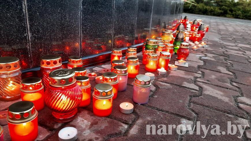 В Наровле прошла акция «Свеча памяти»