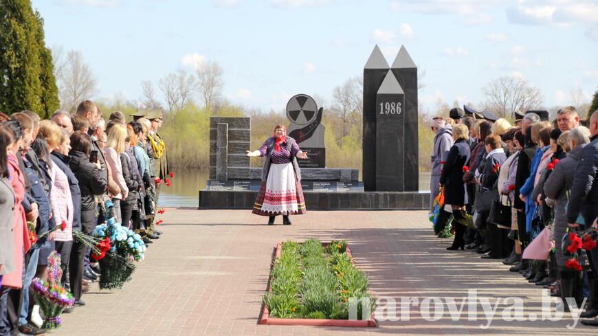 Как в Наровле прошел митинг-реквием, посвященный 35-летию катастрофы на Чернобыльской АЭС