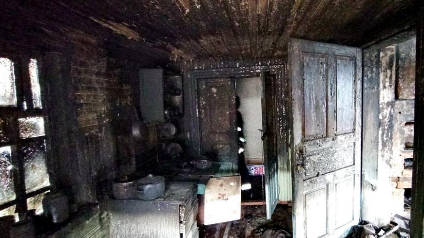 В Наровле на пожаре погиб пенсионер
