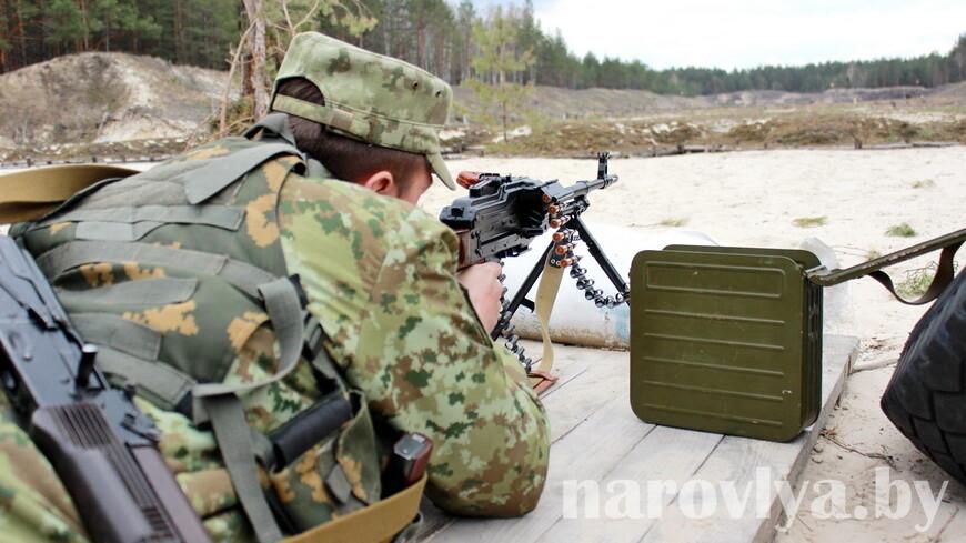 Как Мозырский погранотряд провел учебно-боевые стрельбы