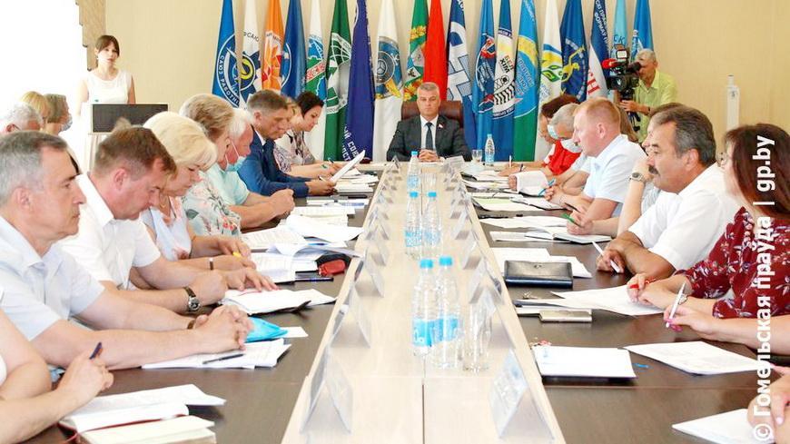 В Гомеле состоялось расширенное заседание президиума Совета областного объединения профсоюзов
