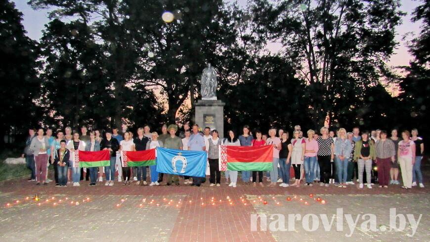 Как в Наровле прошел митинг-реквием, посвященный 80-ой годовщине начала Великой Отечественной войны