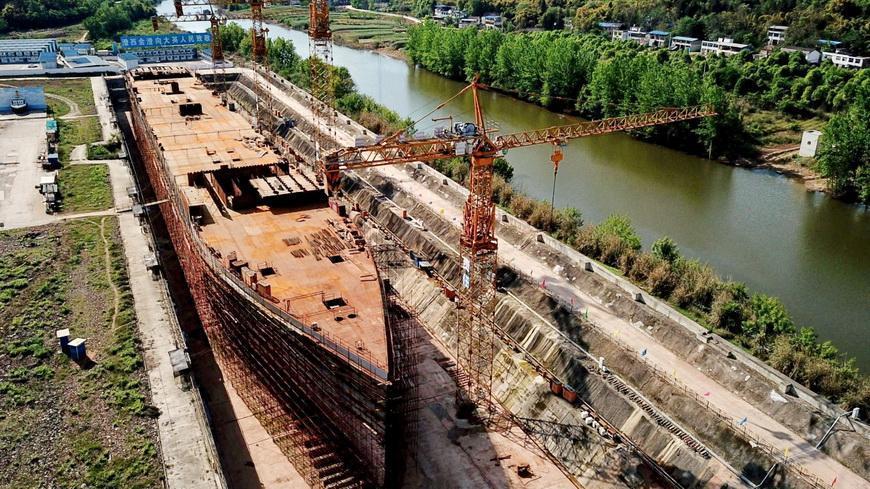 Фото. В Китае завершают строительство копии «Титаника»