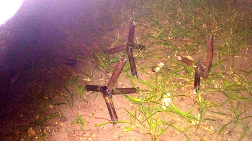 Задержан гомельчанин, разбросавший на дороге металлические ежи