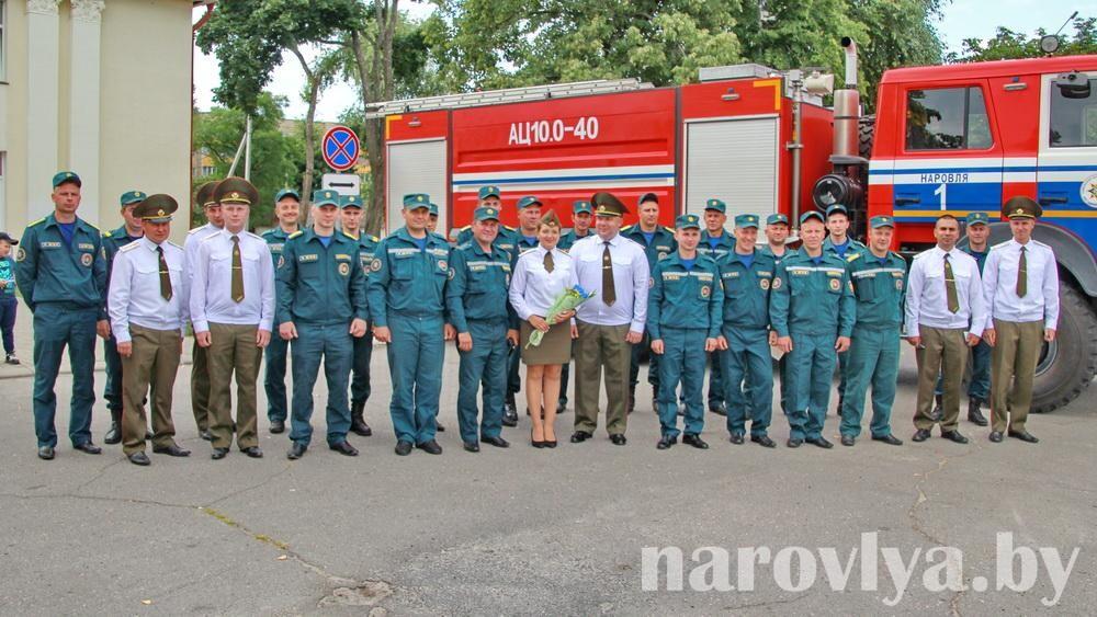 На Наровлянщине отметили День пожарной службы