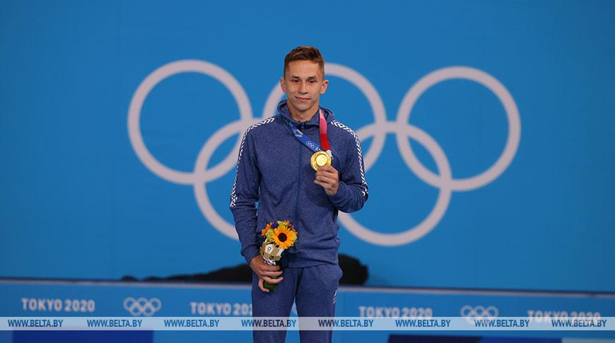 Белорусский батутист Иван Литвинович выиграл золото Олимпиады в Токио