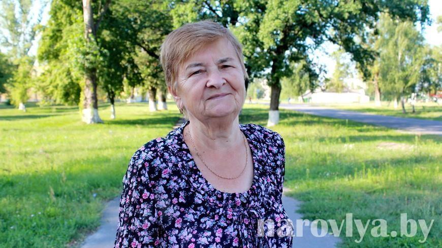 Ветеран труда Наровлянского спецлесхоза Мария ИЛЬЮЧЕНКО душой и сердцем с коллективом