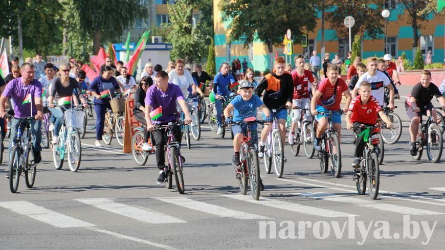 Более 100 наровлян приняли участие в велопробеге «В единстве сила»