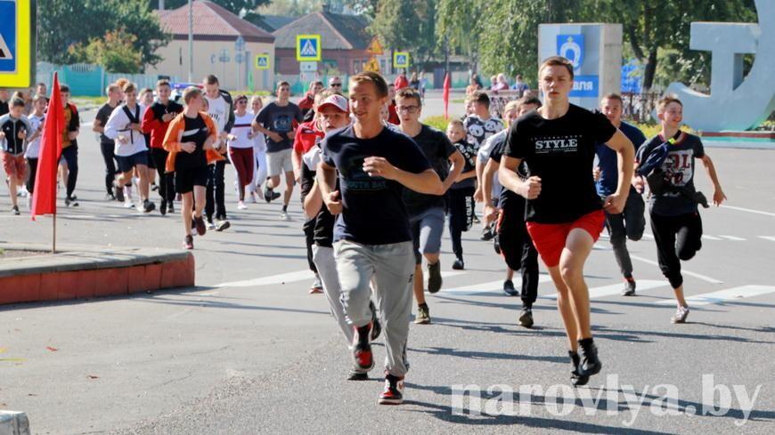 Наровляне приняли участие в легкоатлетическом забеге «За единую Беларусь»