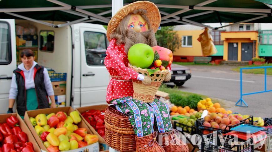 Поспешите! В Наровле прямо сейчас проходит ярмарка плодово-овощной продукции